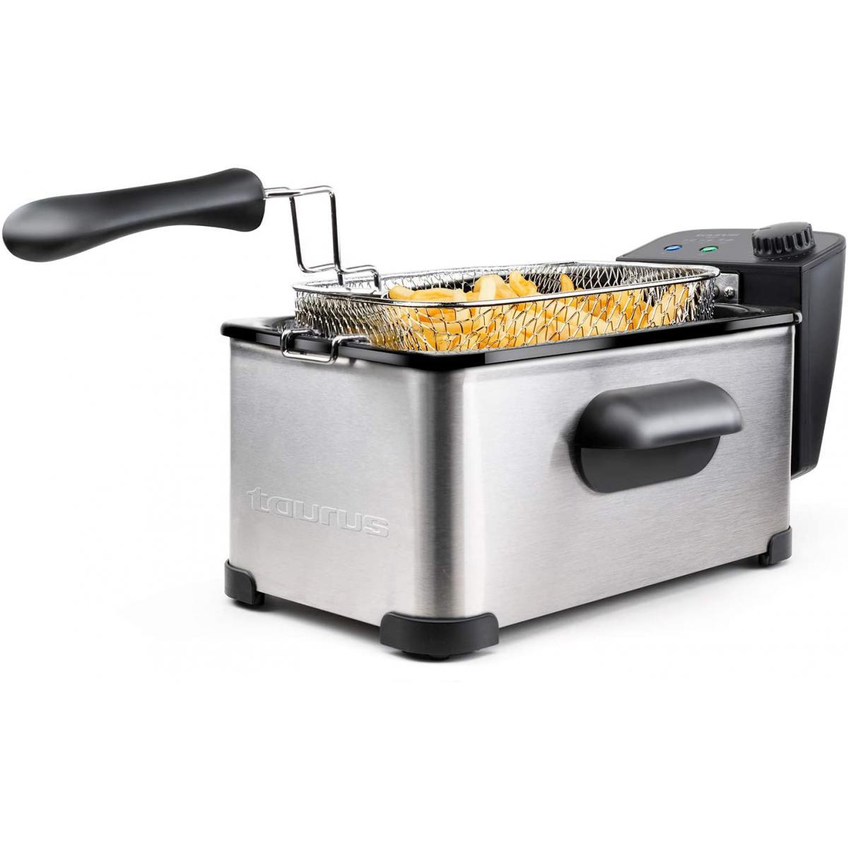 Taurus friteuse électrique de 3L 2000W gris noir