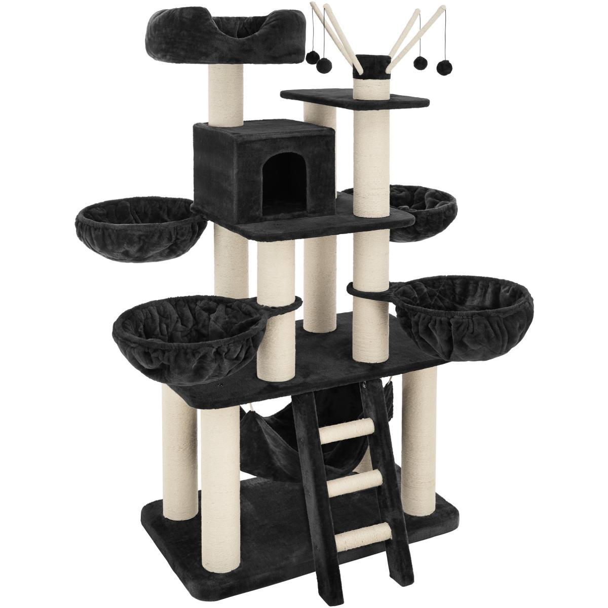Tectake Arbre à chat GISMO 195 cm - noir/blanc