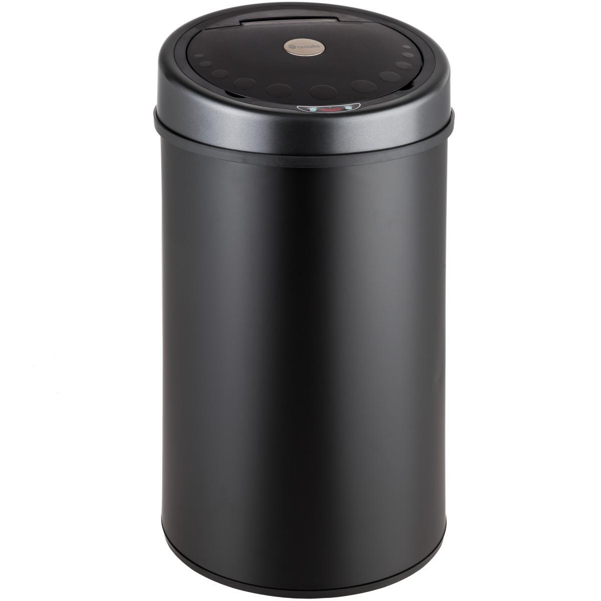 Tectake Poubelle automatique - 50 L - noir