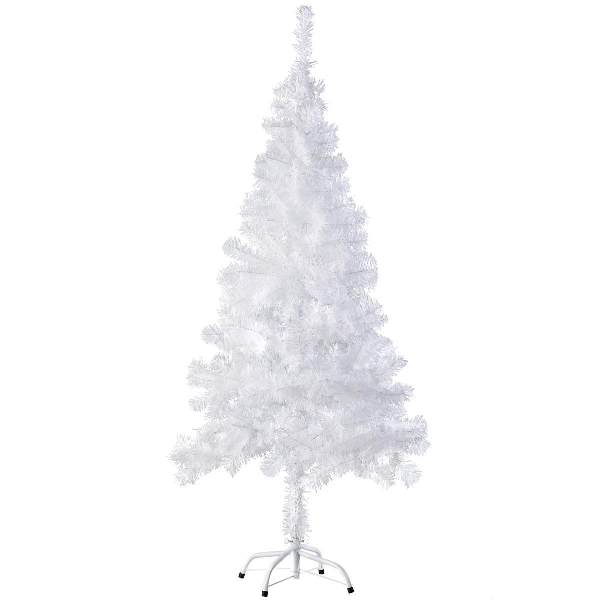 Tectake Sapin de Noël artificiel - 150 cm - Blanc | 310 branches