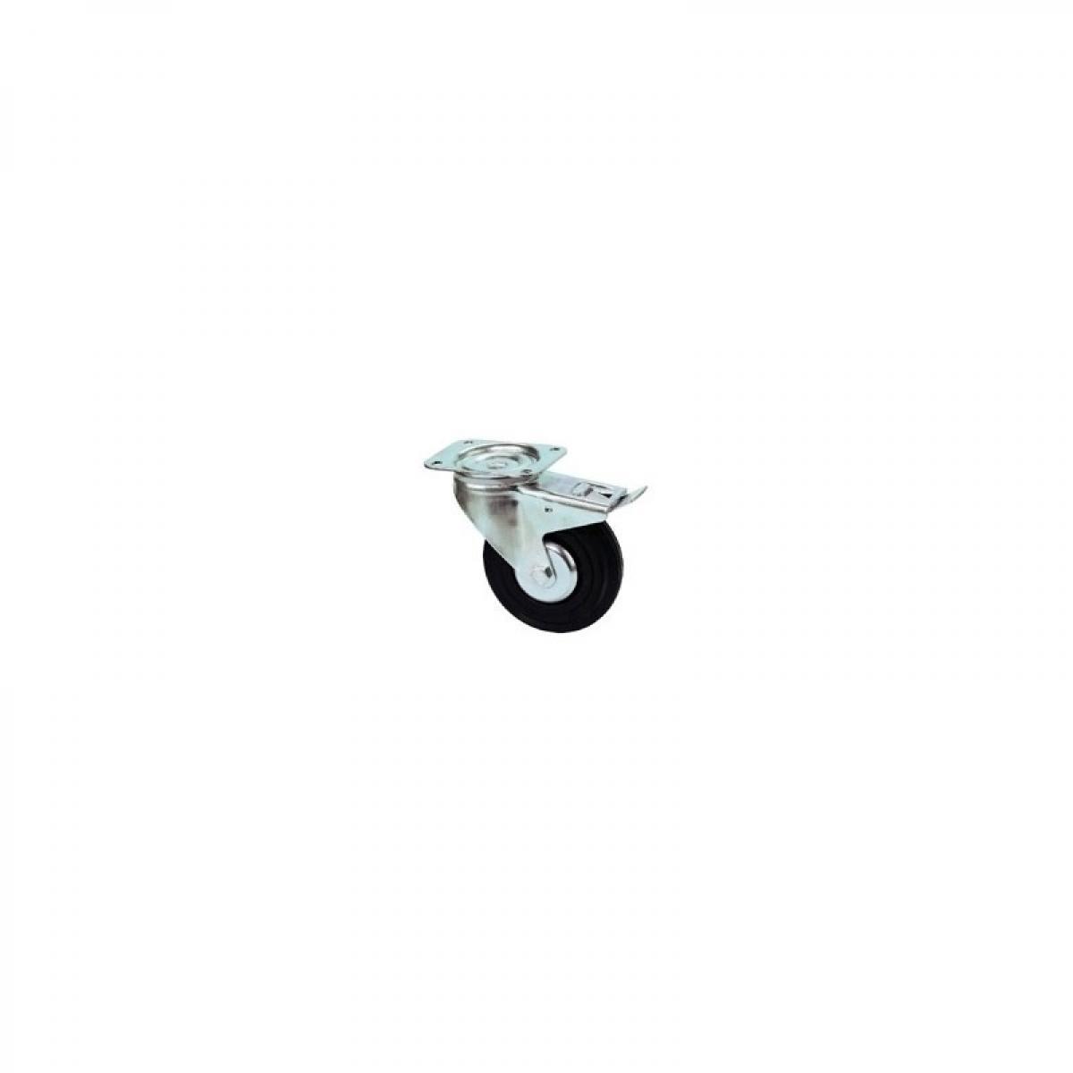 Tente Roulette pivotante à frein - Hauteur totale : 240 mm - Charge : 205 kg - Diamètre : 200 mm - TENTE