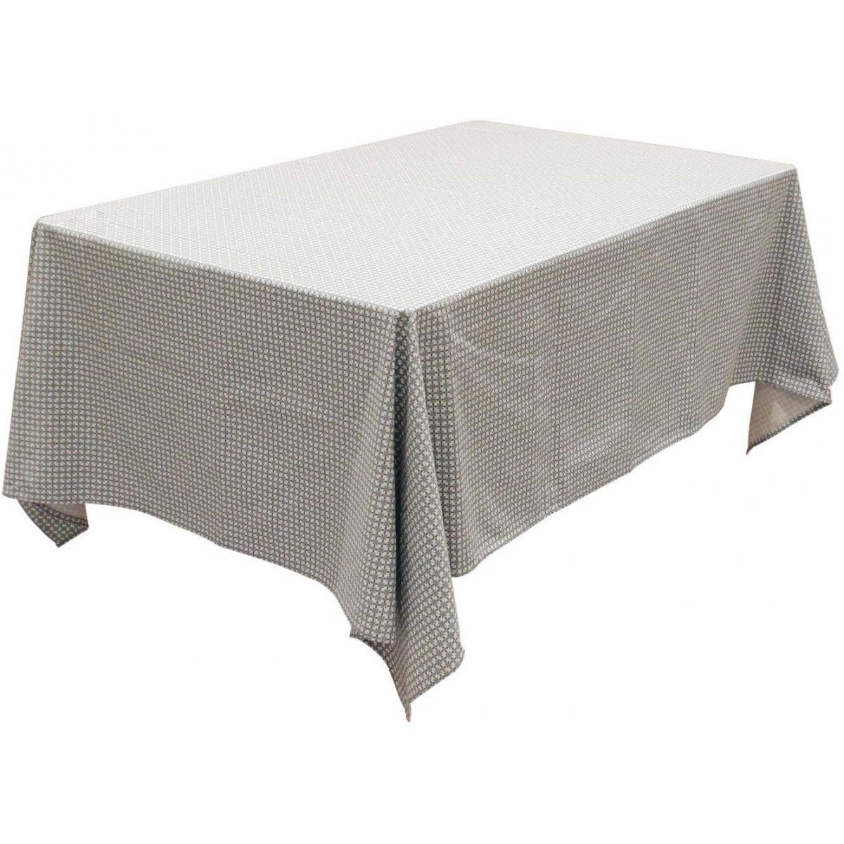 The Home Deco Factory Nappe à motifs pour table rectangulaire 140x240 cm Feuillage