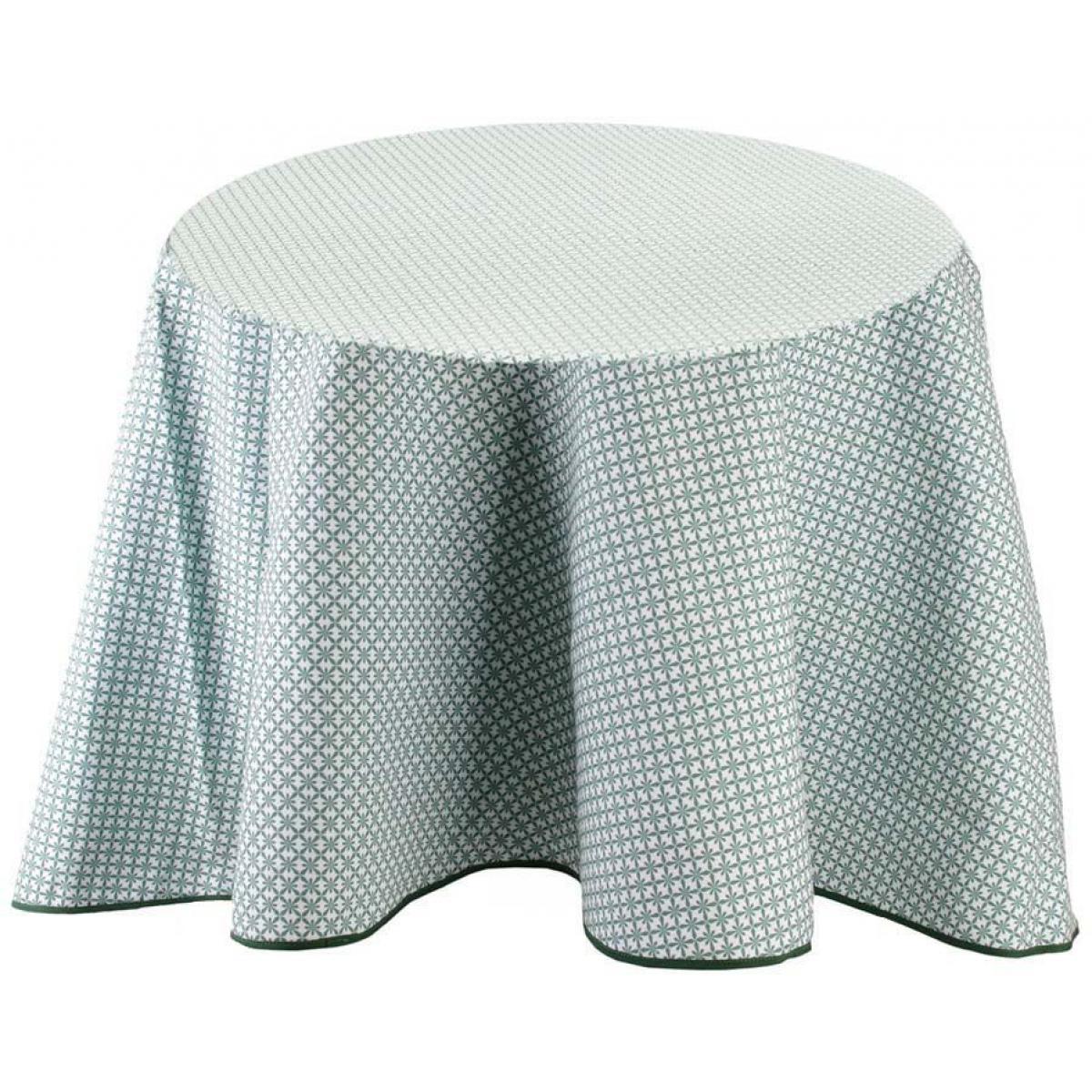 The Home Deco Factory Nappe à motifs pour table ronde 180 cm Feuillage
