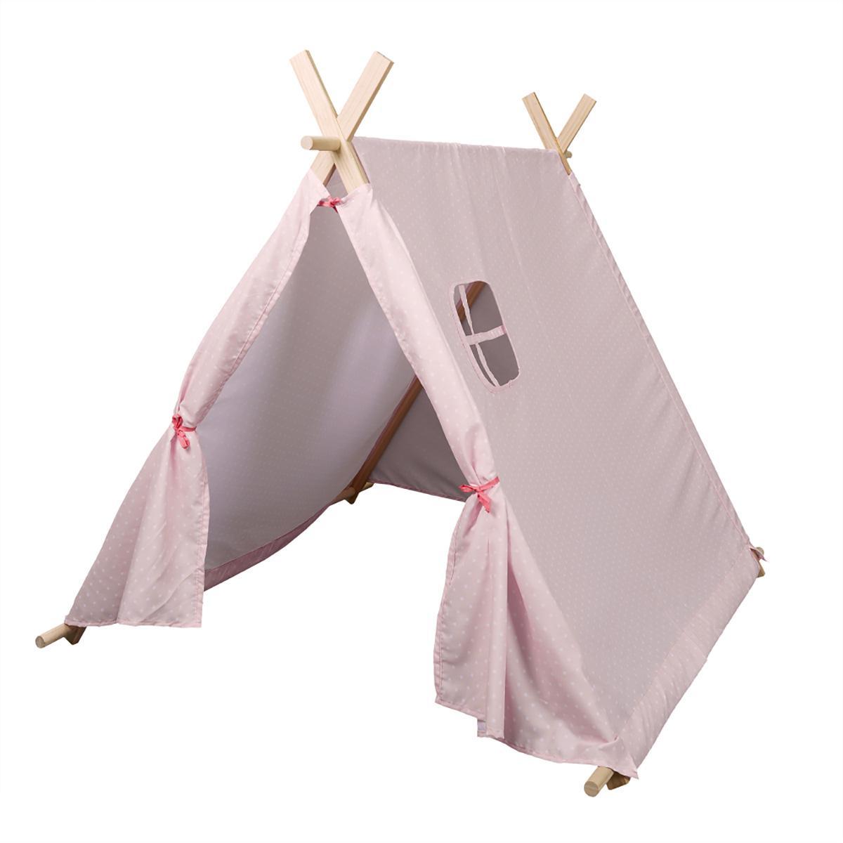 The Home Deco Factory Tente rose pour enfant