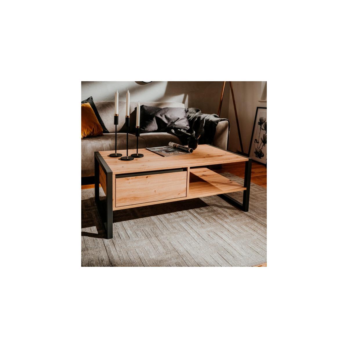 Topdeco Table basse de style industriel Denver