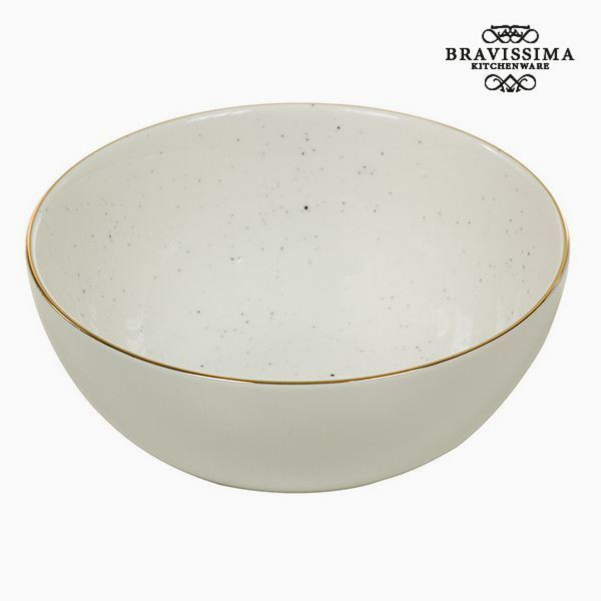 Totalcadeau Bol en porcelaine 300 ml blanc - Bol petit dejeuné design Pas cher