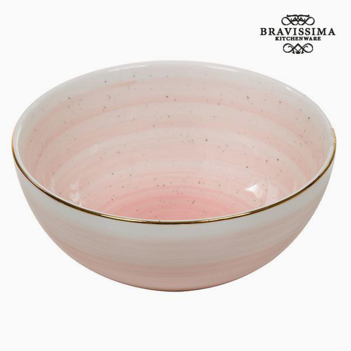 Totalcadeau Bol fait en porcelaine rosé - Bol design pour petit déjeuné Pas cher