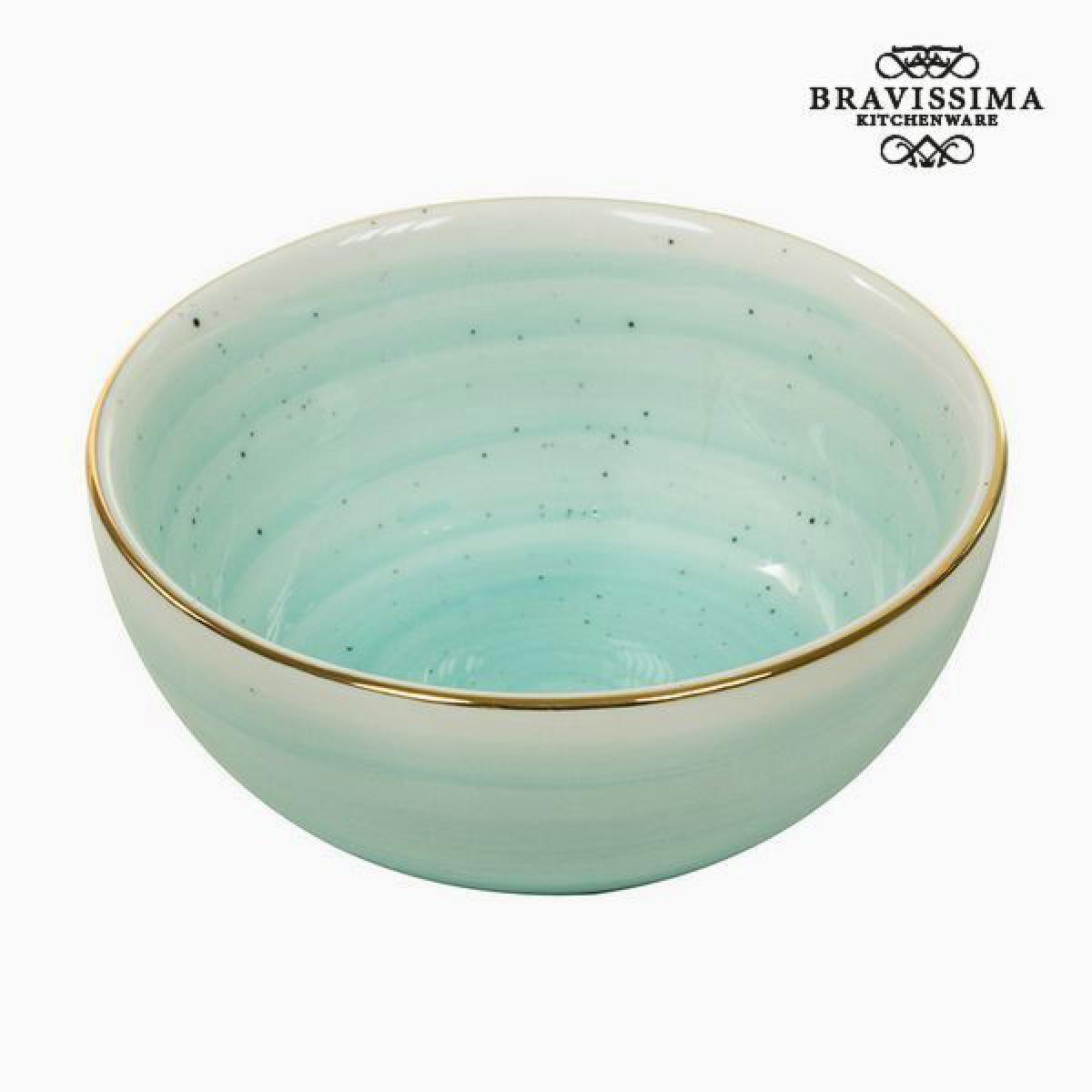 Totalcadeau Bol fait en porcelaine turquoise - Bol design petit déjeuné Pas cher