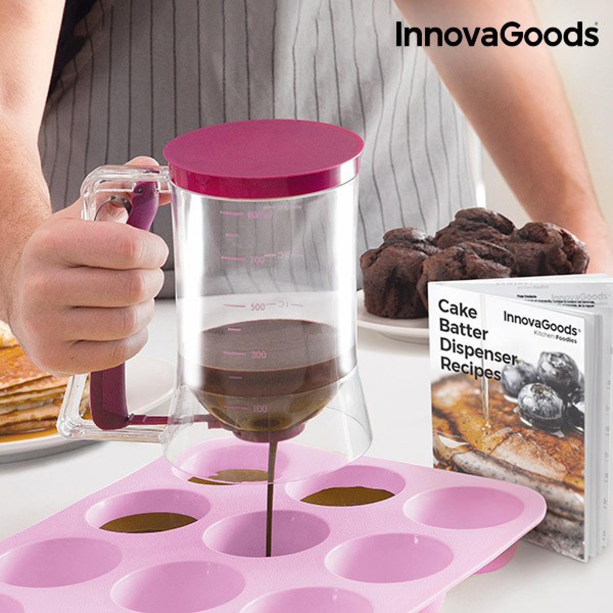 Totalcadeau Carafe distributrice de pâte à pâtisserie avec livre de recettes - Distributeur patisserie
