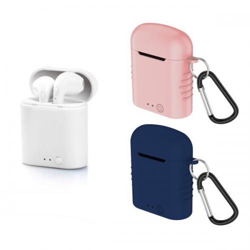 Totalcadeau - Casques Bluetooth avec Microphone et base de charge 400 mAh Blanc - Tablette tactile