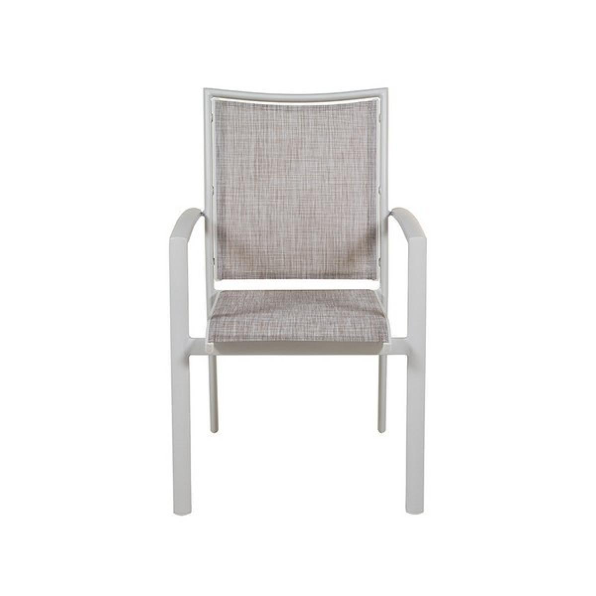 Totalcadeau Chaise de jardin avec support en aluminium (57 x 66 x 90 cm) - Chaise exterieur Pas cher