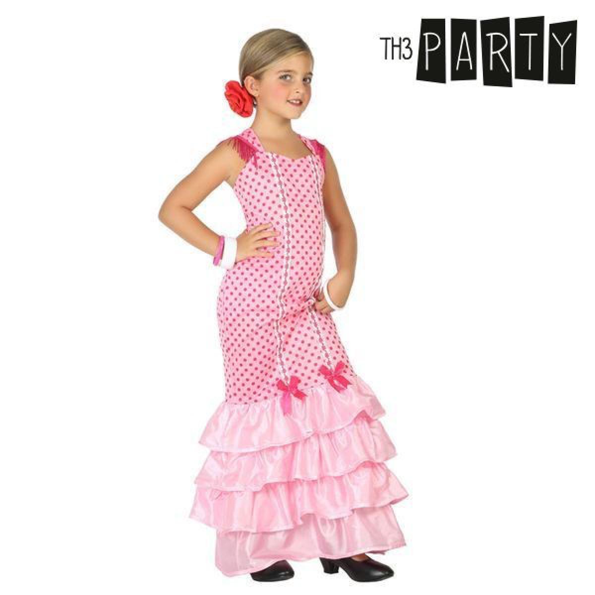Totalcadeau Déguisement pour fillette Danseuse de flamenco Rose - Costume enfant fille Pas cher