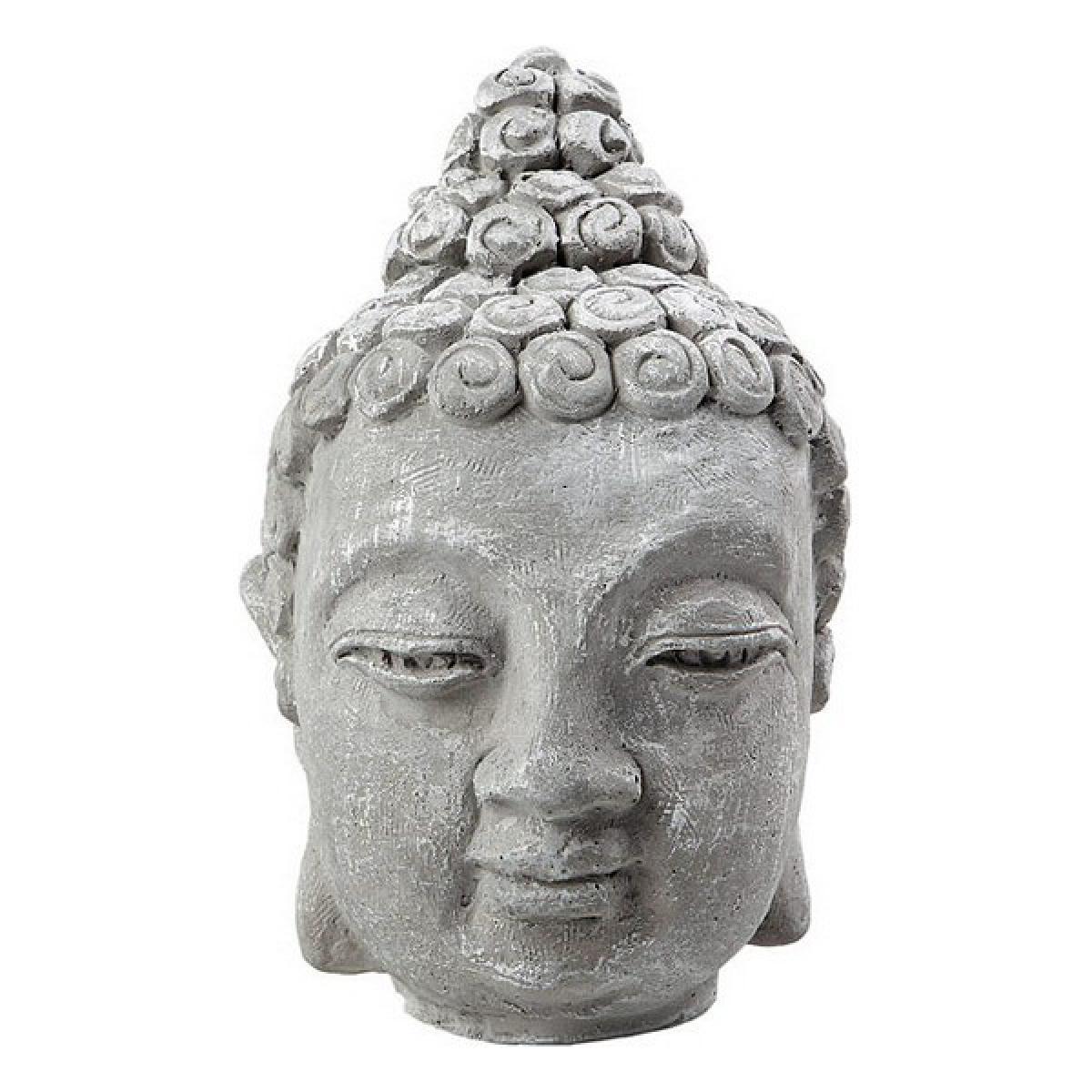 Totalcadeau Figurine décorative tête Bouddha Pas cher