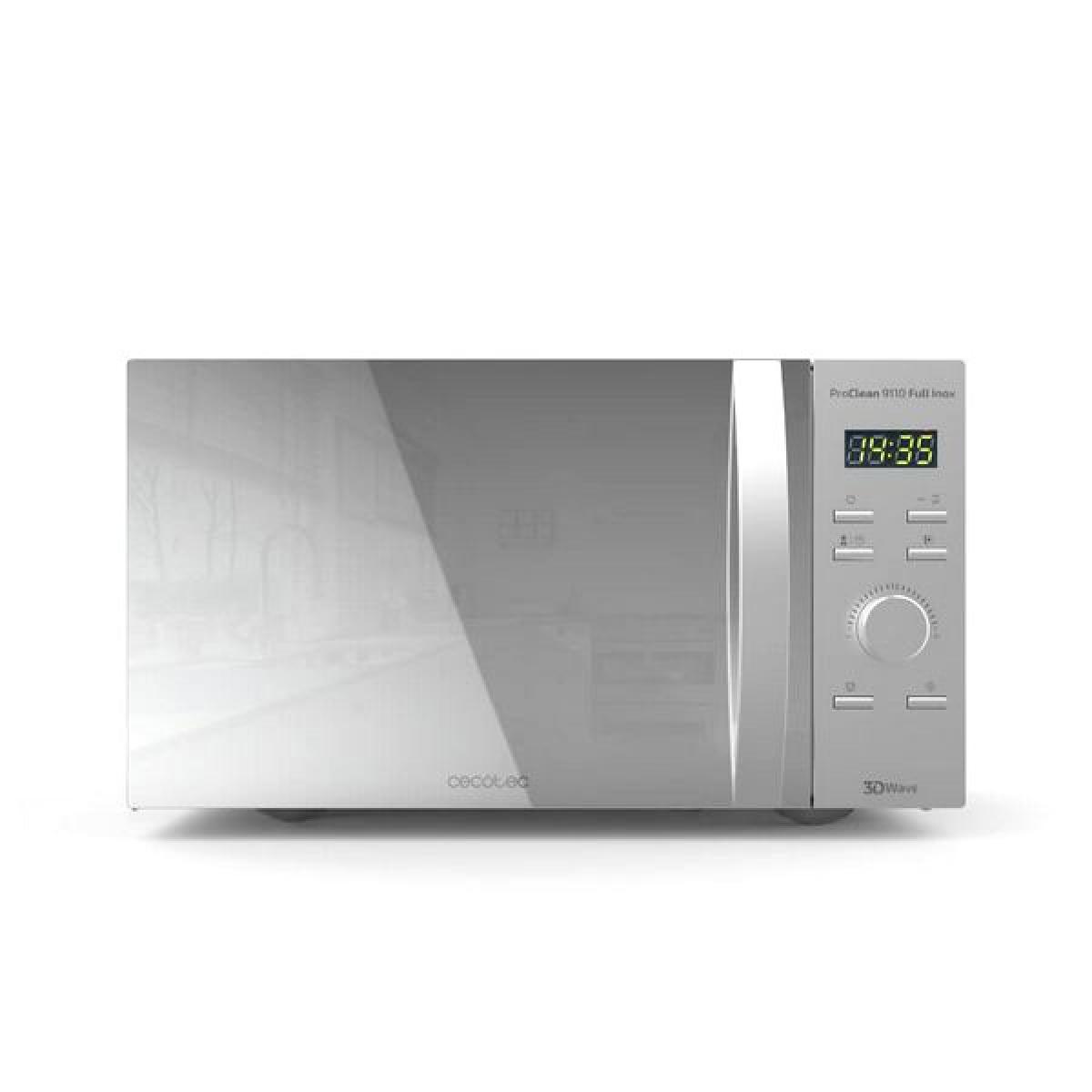 Totalcadeau Micro-ondes avec Gril 30 L 1000W Argenté