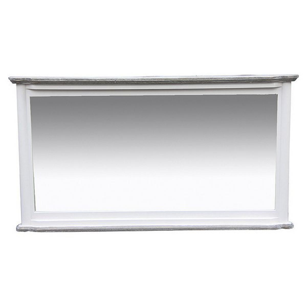 Totalcadeau Miroir en bois et en verre Miroir design maison et bureau 18 x 63 x 83 Pas cher