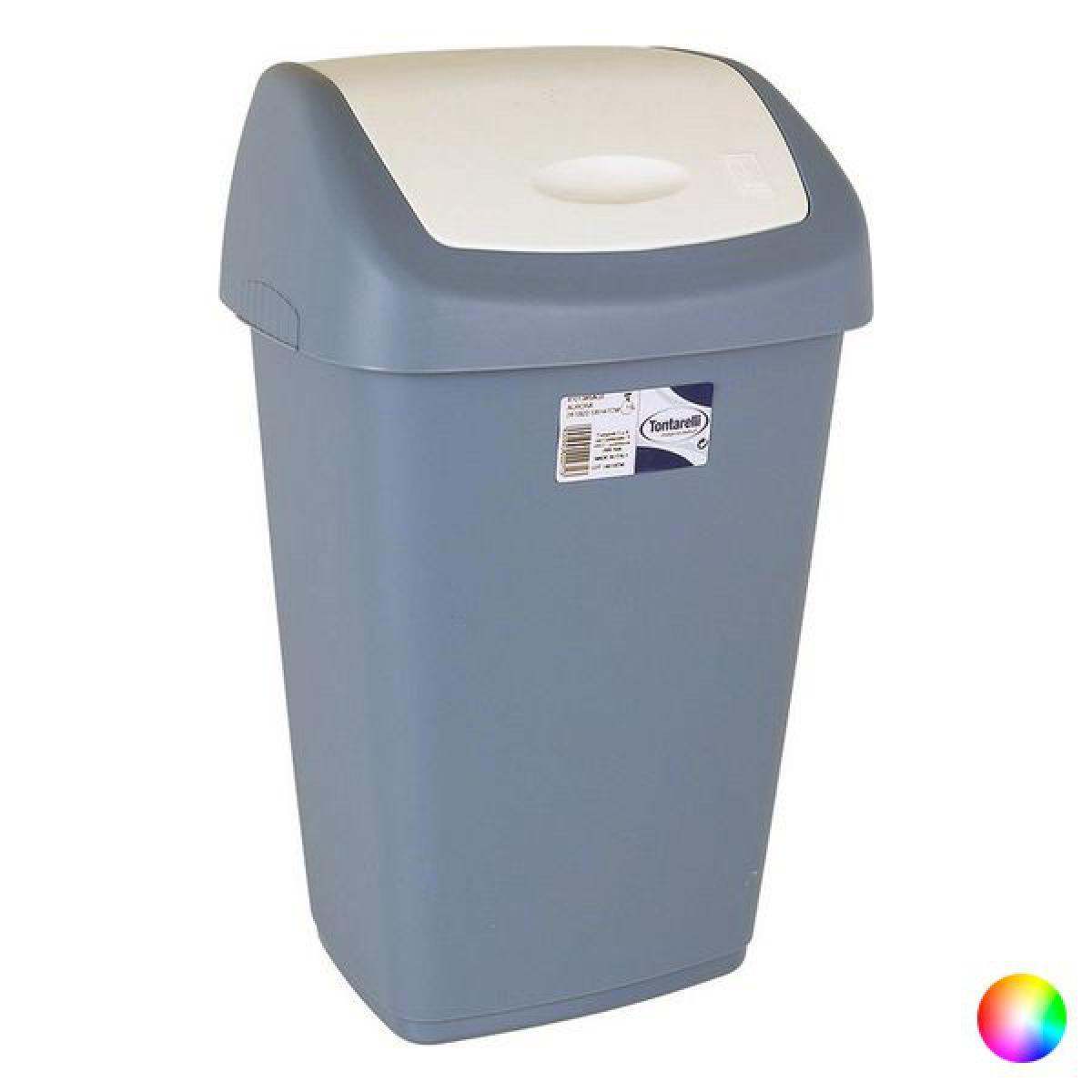 Totalcadeau Poubelle à papier 28,5 x 22,5 x 47 cm 15L Couleur - Blanc/Bleu