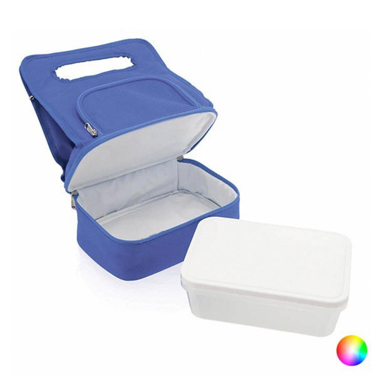 Totalcadeau Sac isotherme avec compartiments et lunch box (1 L) glaciere repas Couleur - Rouge