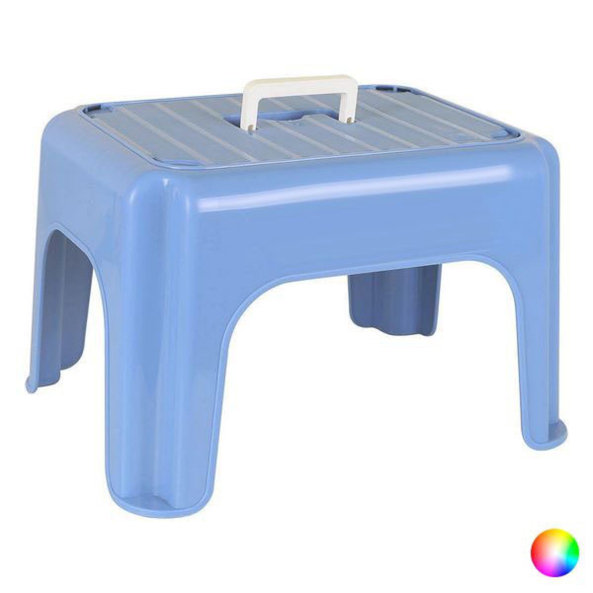 Totalcadeau Tabouret en plastique (38 x 30 x 24 cm) Couleur - Bleu