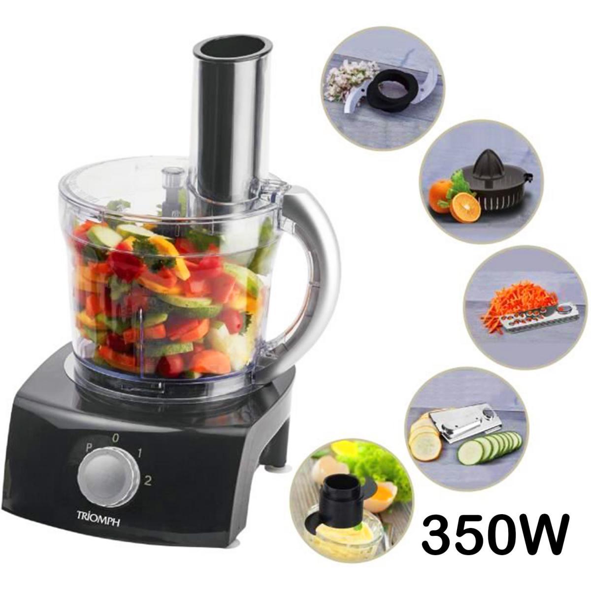 Triomph Robot de cuisine multi fonctions Triomph ETF1825 1L - 350W - Noir