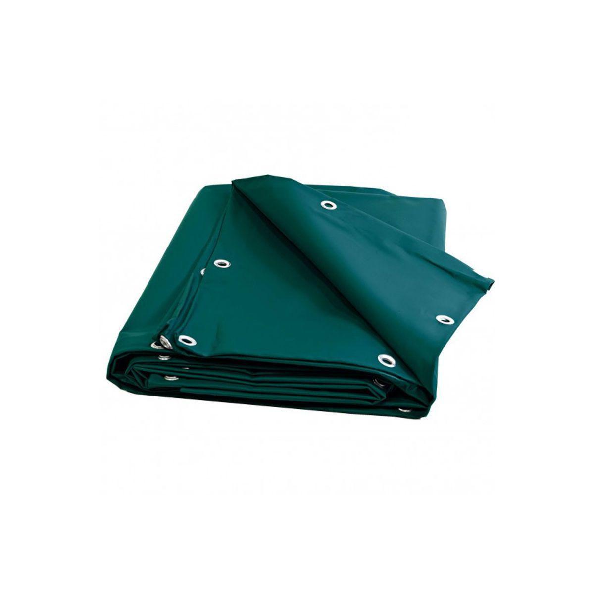 Univers Du Pro Bâche Charpente 5 x 4 m Verte 680 g/m2 PVC Haute qualité