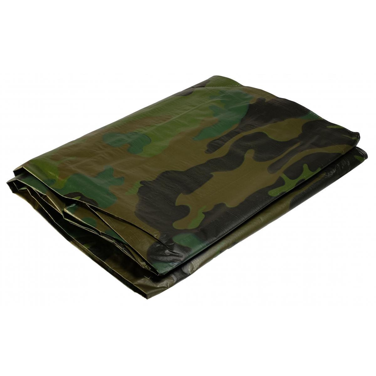 Univers Du Pro Bâche militaire 3,6x5 m 150 gr/m2 Bâche camouflage de sol verte et noire Bâche de protection en polyéthylène