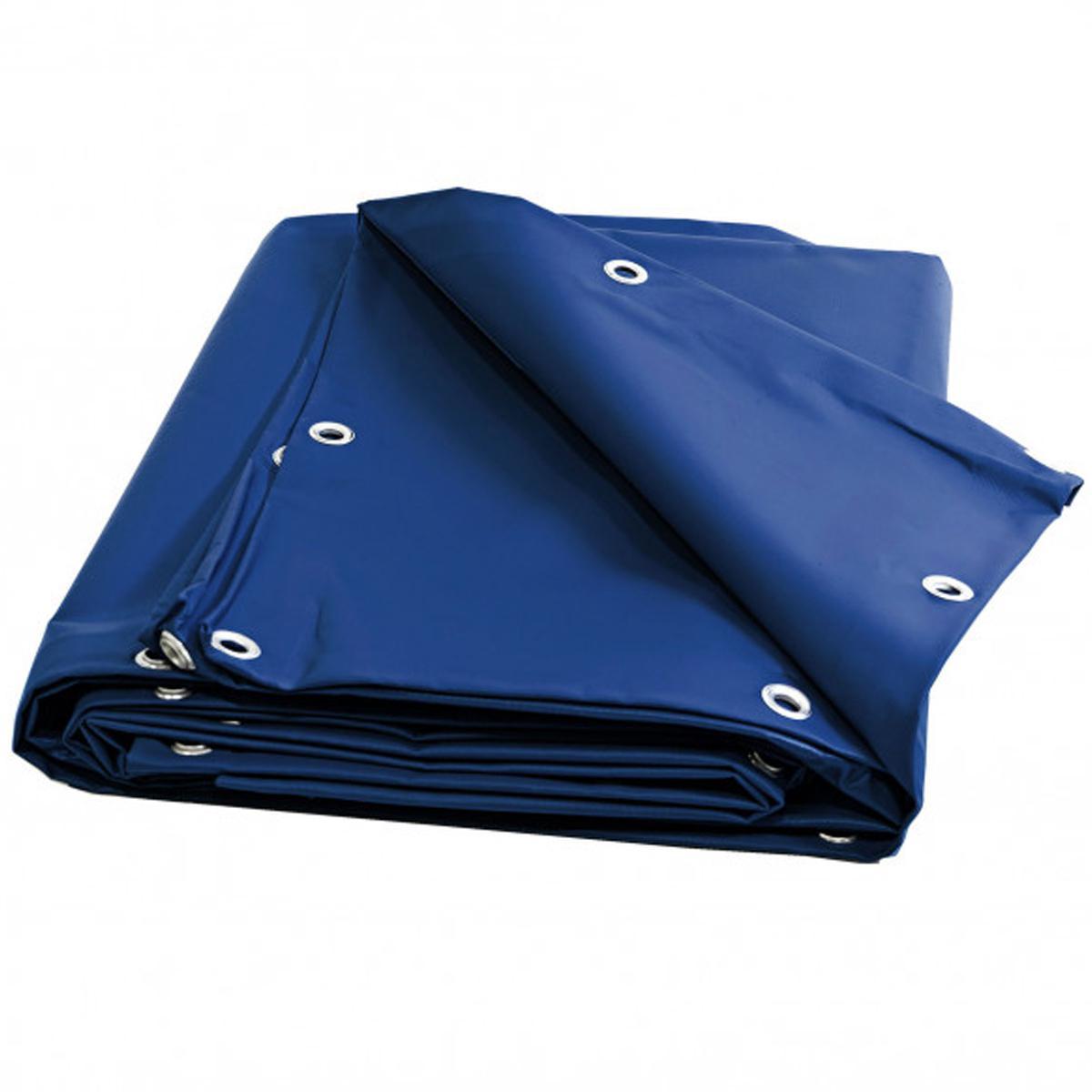 Univers Du Pro Bâche Toiture 7 x 9 m Bleue 680 g/m2 PVC Haute qualité