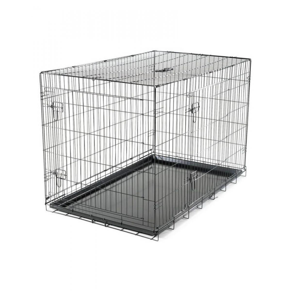 Vadigran VADIGRAN Cage métallique pliable Classic - 122 x 79 x 86 cm - Noir - Pour chien