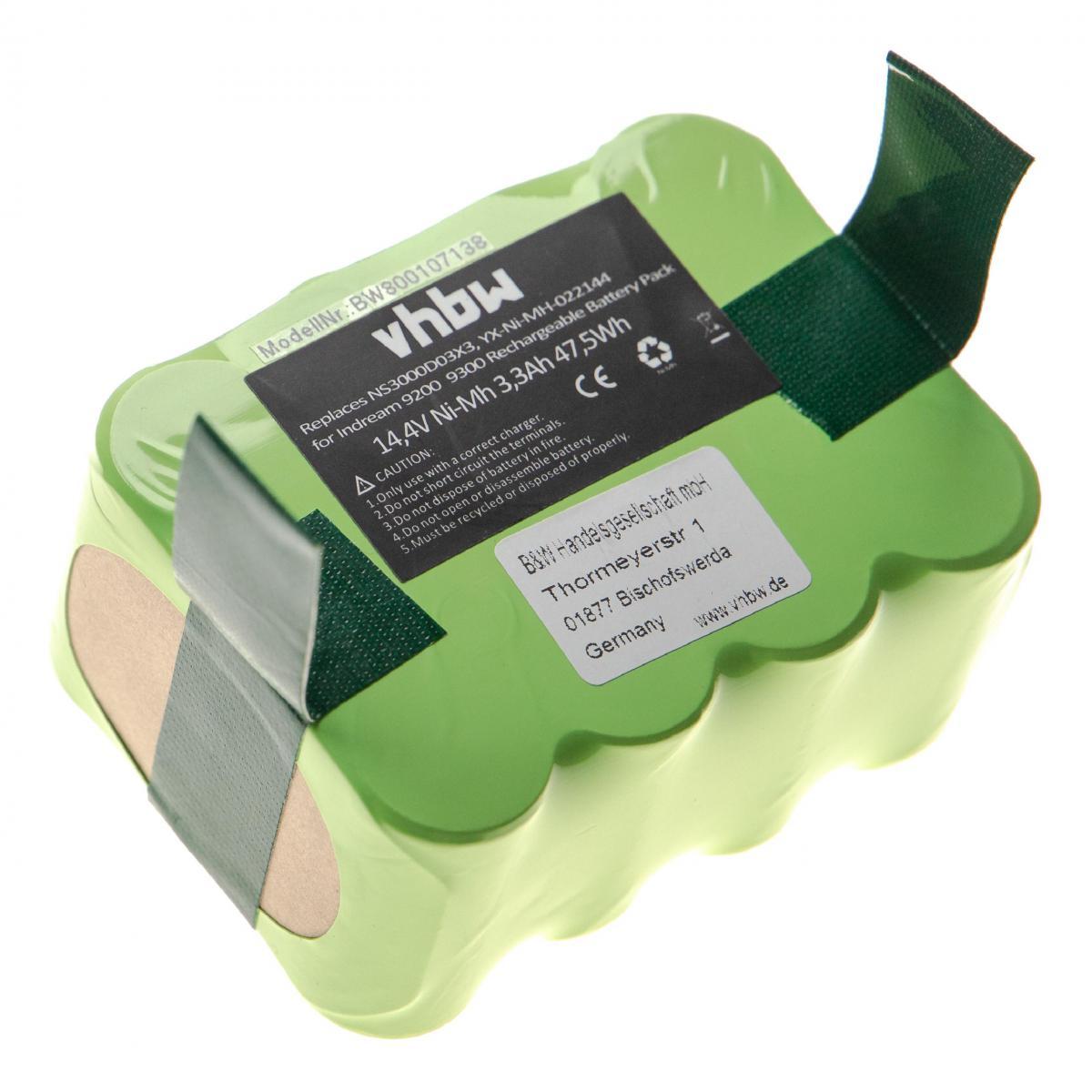 Vhbw Batterie Ni-MH vhbw 3300mAh (14.4V) compatible avec KV8 210C, 210XR, MyGenie XR210, Nestor E.Ziclean Furtiv remplace : N
