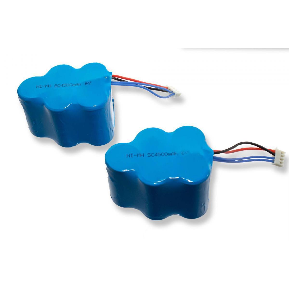 Vhbw INTENSILO 2 x NiMH Batterie 4500mAh (6V) pour aspirateur Hoover RVC0010, RVC0011, RVC0011-001 comme LP43SC3300P5.