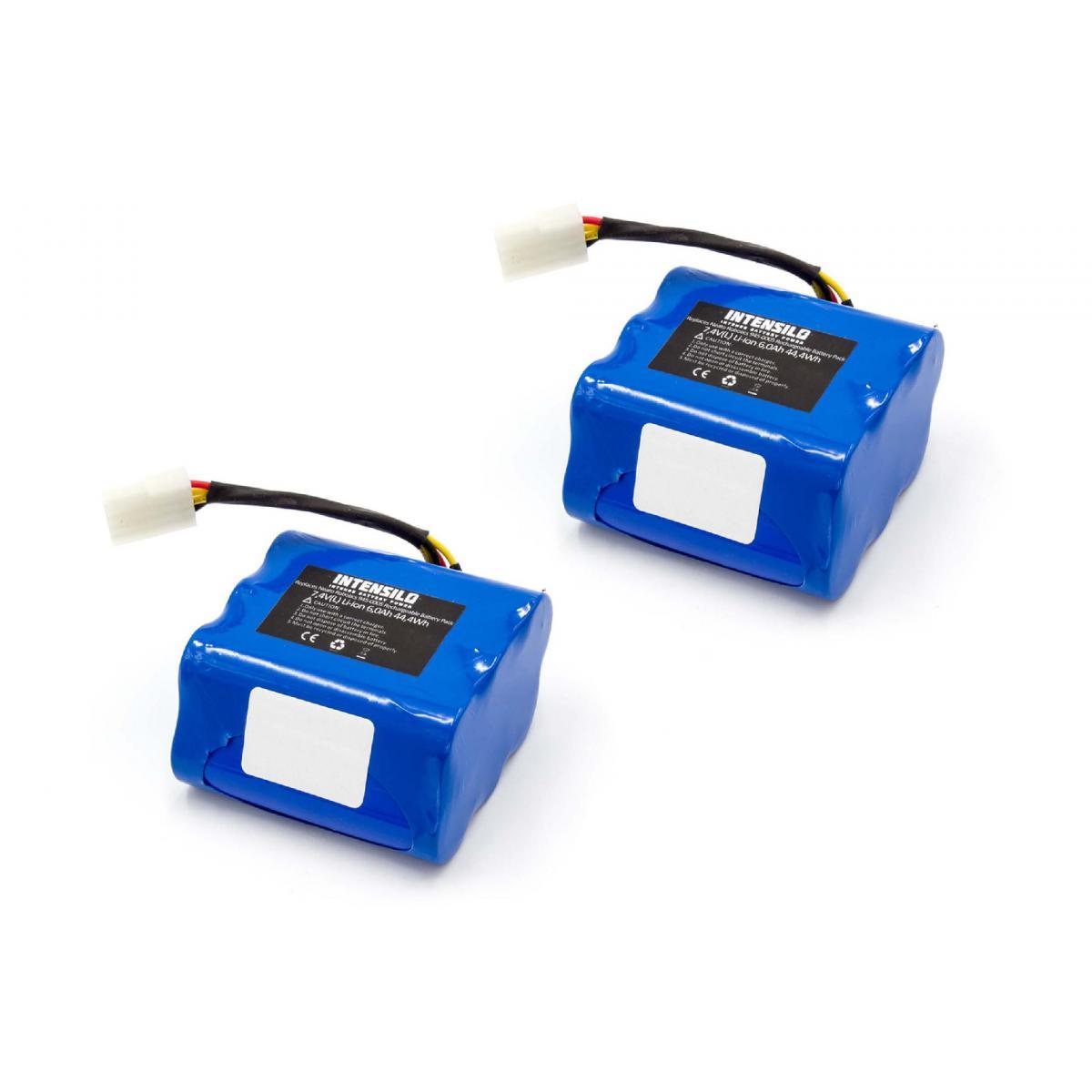 Vhbw INTENSILO 2x batterie compatible avec Neato 945-0080, All Floor, Signature 25, VX Pro aspirateur Home Cleaner (6000mAh,