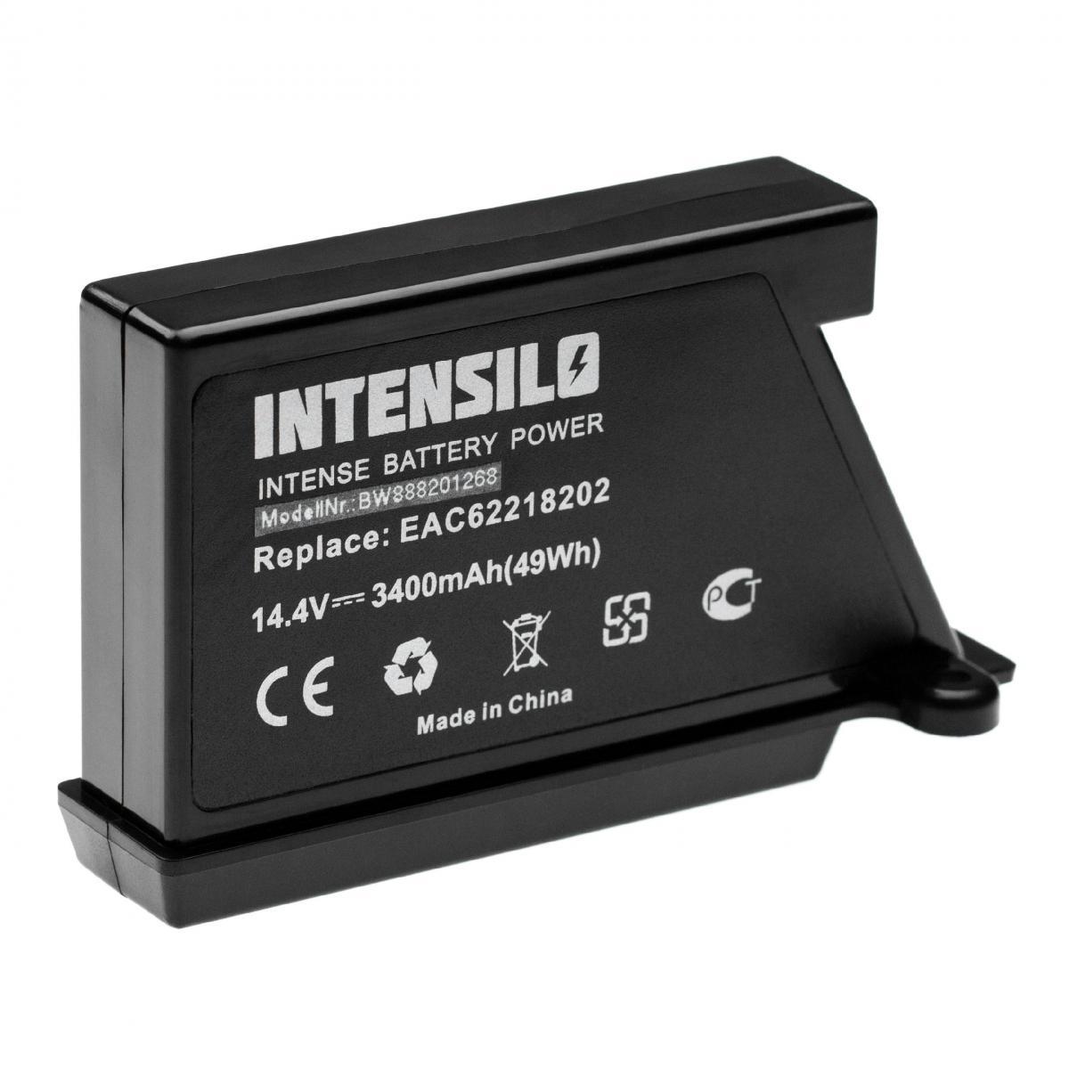 Vhbw INTENSILO Batterie compatible avec LG HOM-BOT VR65704LVM, VR6570LVM, VR65710LVMP robot électroménager (3400mAh, 14,4V, L