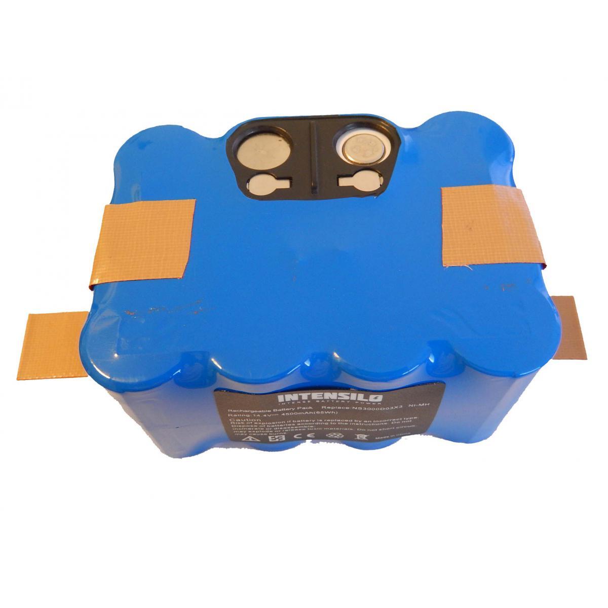 Vhbw INTENSILO NiMH Batterie 4500mAh (14.4V) pour aspirateur robot Home Cleaner Nestor E.Ziclean Furtiv. Remplace : NS3000D03