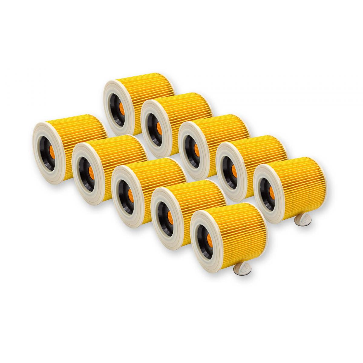 Vhbw vhbw 10x filtre à cartouches pour aspirateur robot aspirateur multi-usages Kärcher WD 3600, WD 3.600
