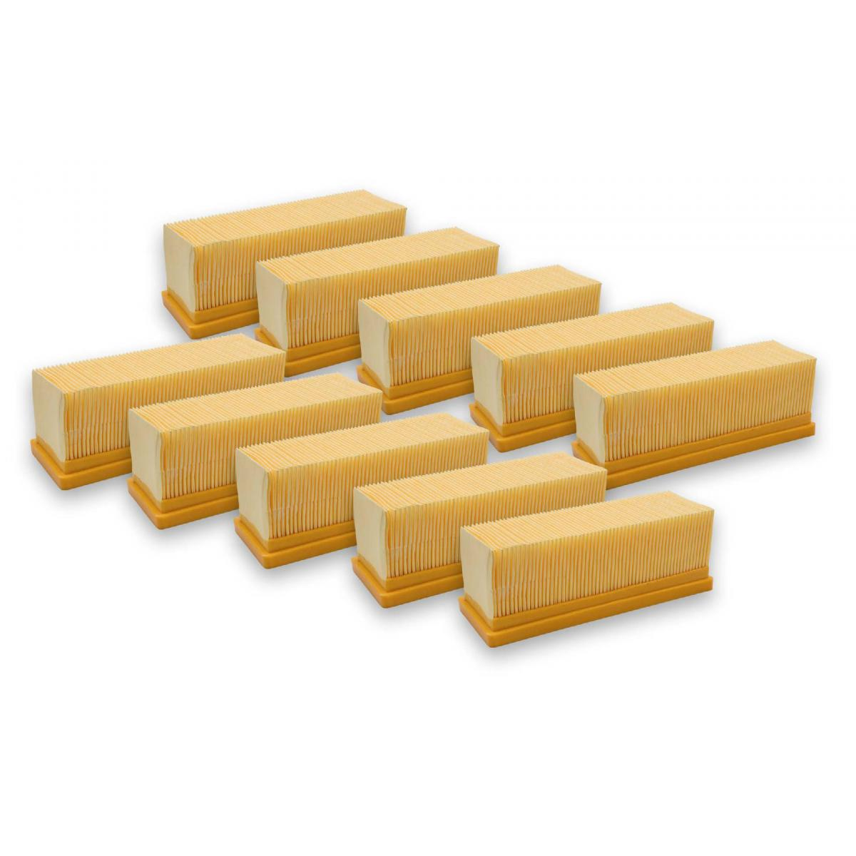 Vhbw vhbw 10x filtre à plis plats compatible aspirateur multifonction Kärcher SE 5.100, SE 6.100, A2701, A2801 Plus, SE 3001,