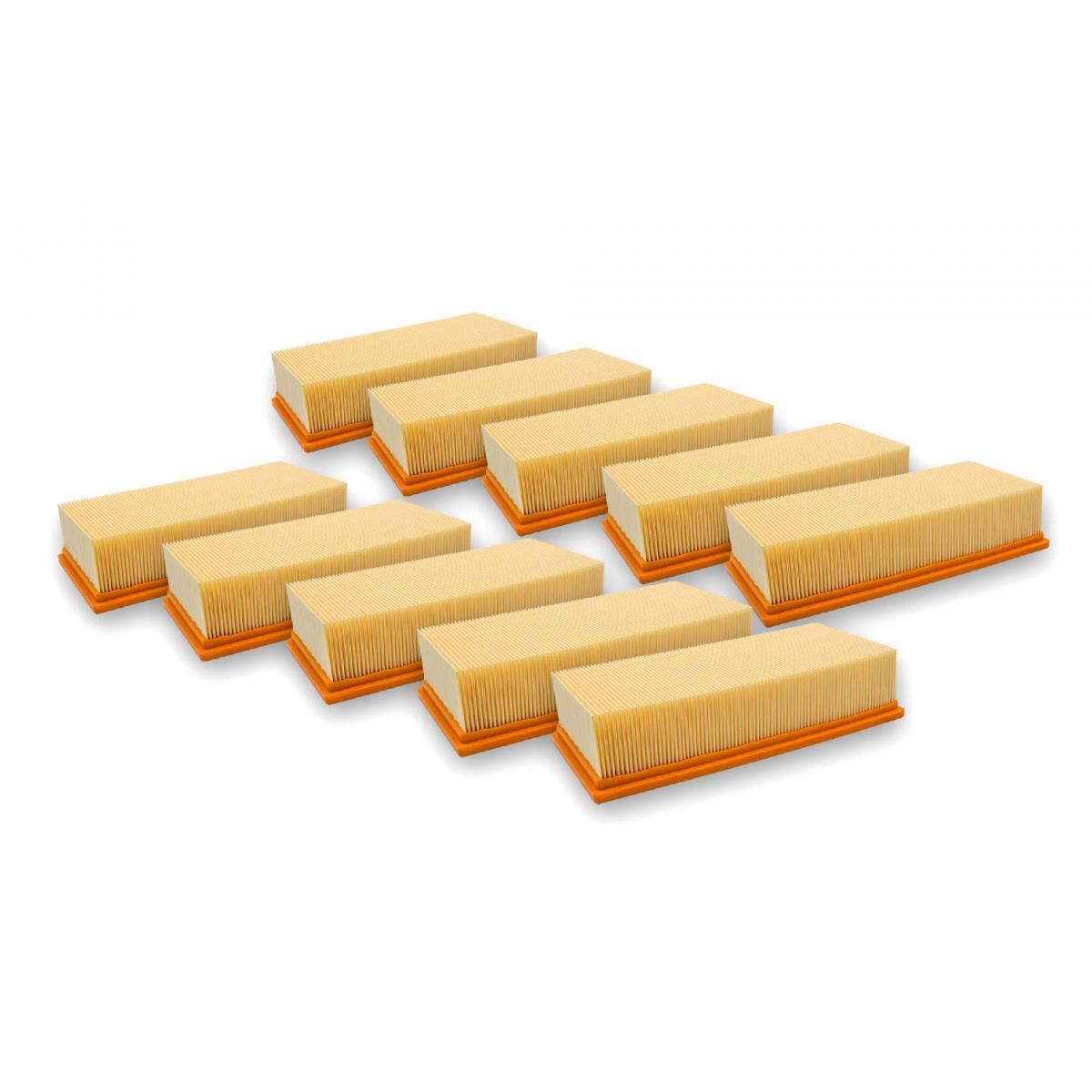 Vhbw vhbw 10x filtre à plis plats remplace 6.904-283.0 Kärcher aspirateur à sec/à liquide IVC 60/24-2 Ap, IVC 60/30 Ap, IVC 6