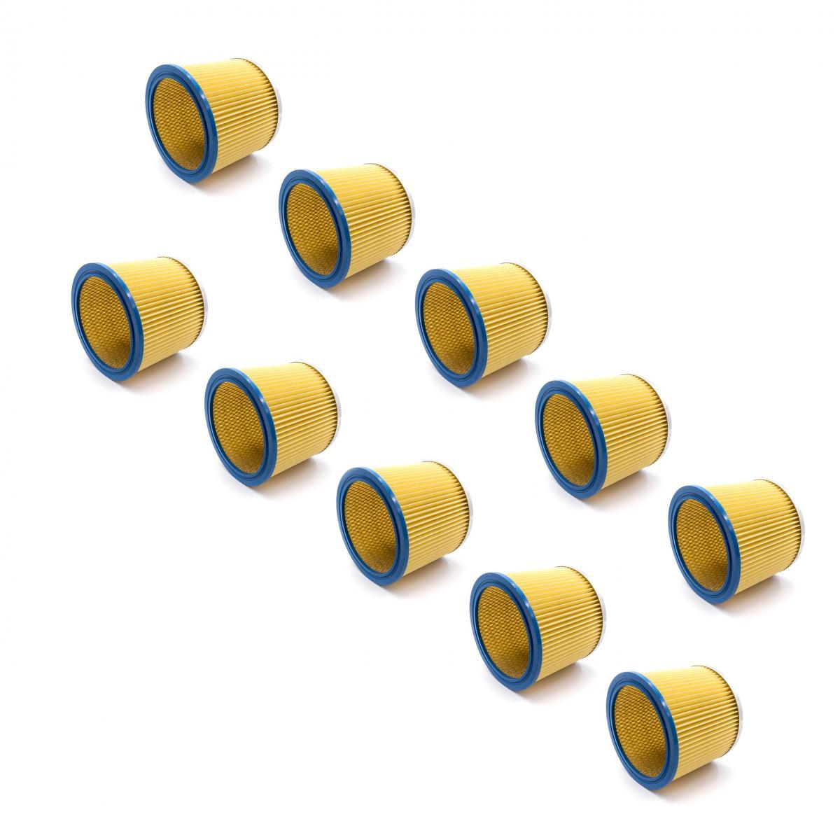 Vhbw vhbw 10x Filtre rond / filtre en lamelles pour aspirateur Aqua Vac Max 18, 630, 7