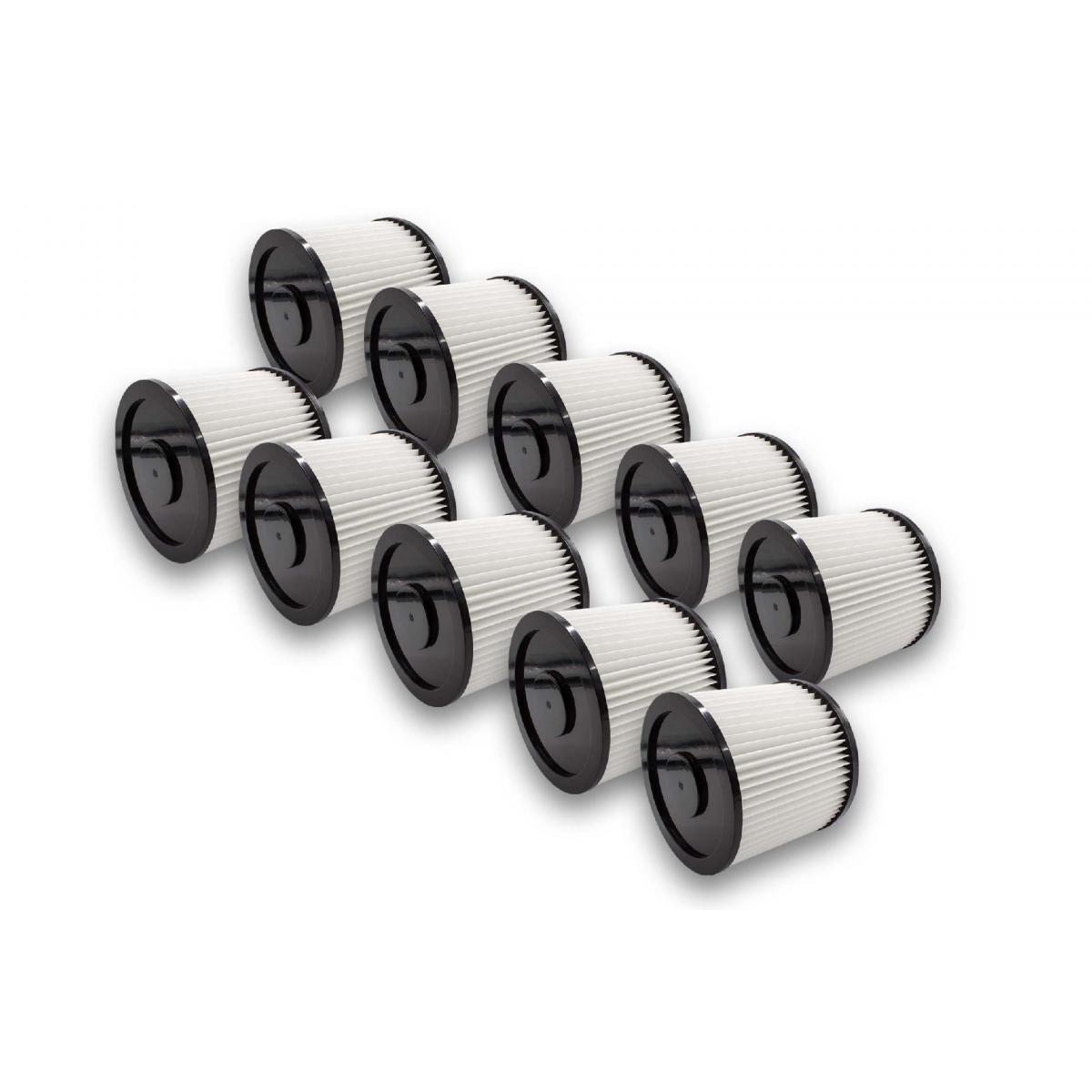Vhbw vhbw 10x Filtres ronds pour aspirateur multifonctions Aqua Vac 7413 B, 8103 B, 8202 B, 8203 P, 8204 B, 8224 B, 8503 B, 8