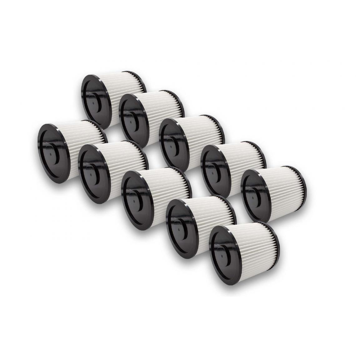 Vhbw vhbw 10x filtres ronds pour aspirateur multifonctions compatible avec Kärcher NT 221, NT221 remplacement pour 6.904-042.