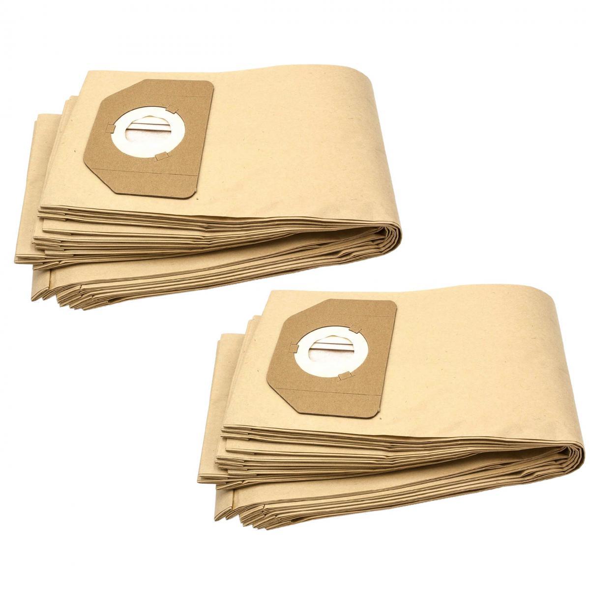 Vhbw vhbw 20x sacs compatible avec Rowenta RU 30-46, RU 461, RU 520 S, RU 521, Vorace, ZR 80, ZR 804 aspirateur - papier, mar
