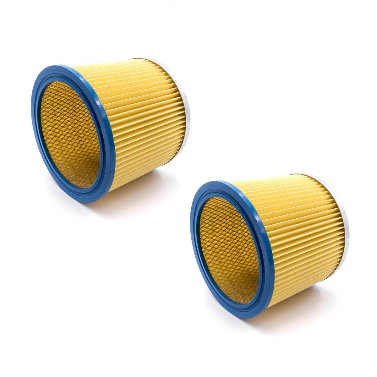 Vhbw vhbw 2x Filtre rond / filtre en lamelles pour aspirateur, robot, aspirateur multifonctions Shop-Vac Super 615 S2, Super
