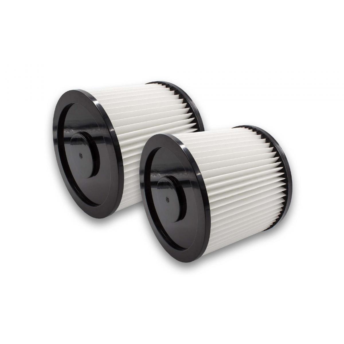 Vhbw vhbw 2x Filtre rond pour aspirateur multifonction compatible avec Aqua Vac Super 30, 40, 615 S1, 615 S2, 760
