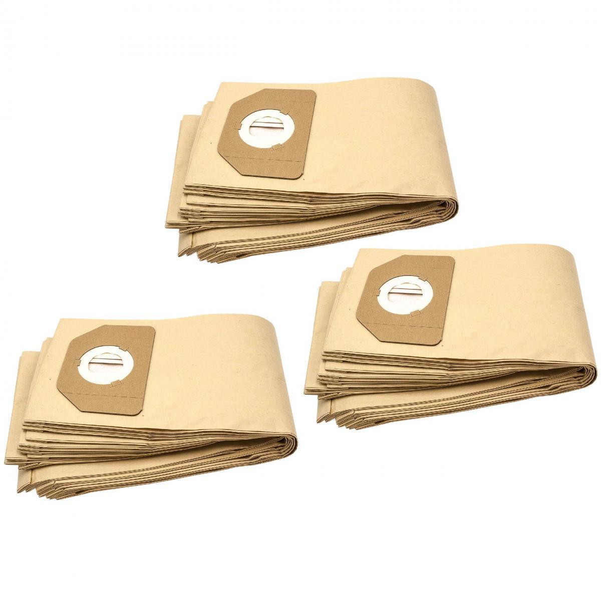 Vhbw vhbw 30x sacs compatible avec Rowenta RU 30-46, RU 461, RU 520 S, RU 521, Vorace, ZR 80, ZR 804 aspirateur - papier, mar