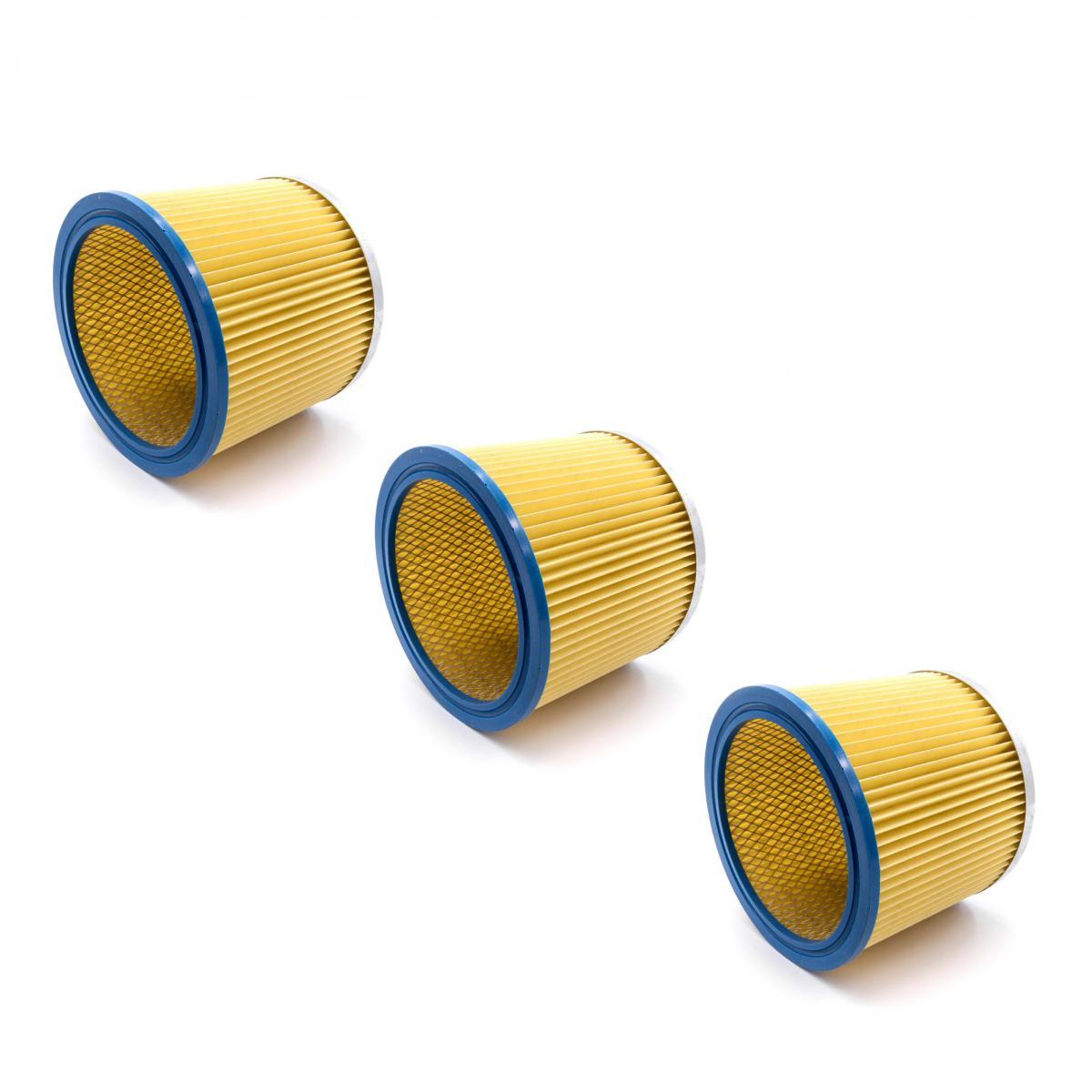 Vhbw vhbw 3x Filtre rond / filtre en lamelles pour aspirateur Shop-Vac Super 615 S2, Super 760, Ultra 40 Blower