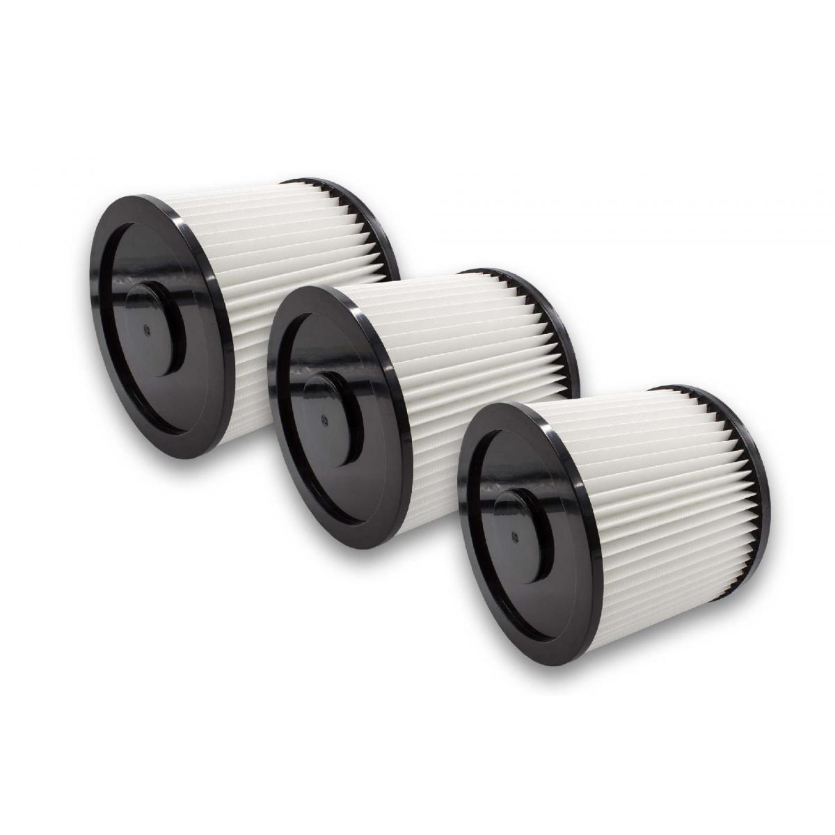 Vhbw vhbw 3x Filtres ronds pour aspirateur compatible avec Rowenta Collecto RB 14, RB 50, RB 500, RB 51, RB 510 remplacement