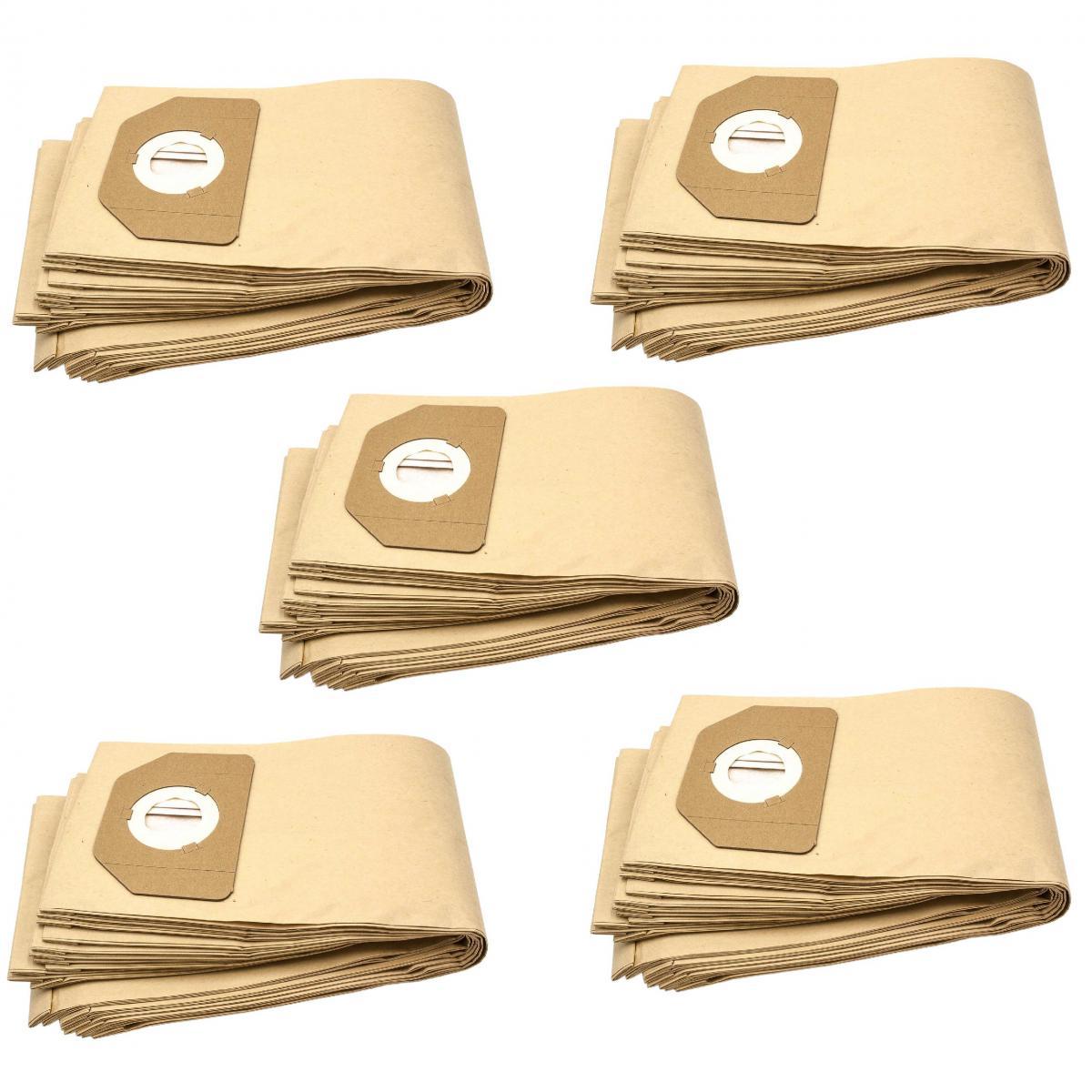 Vhbw vhbw 50x sacs compatible avec Rowenta RU 30-46, RU 461, RU 520 S, RU 521, Vorace, ZR 80, ZR 804 aspirateur - papier, mar