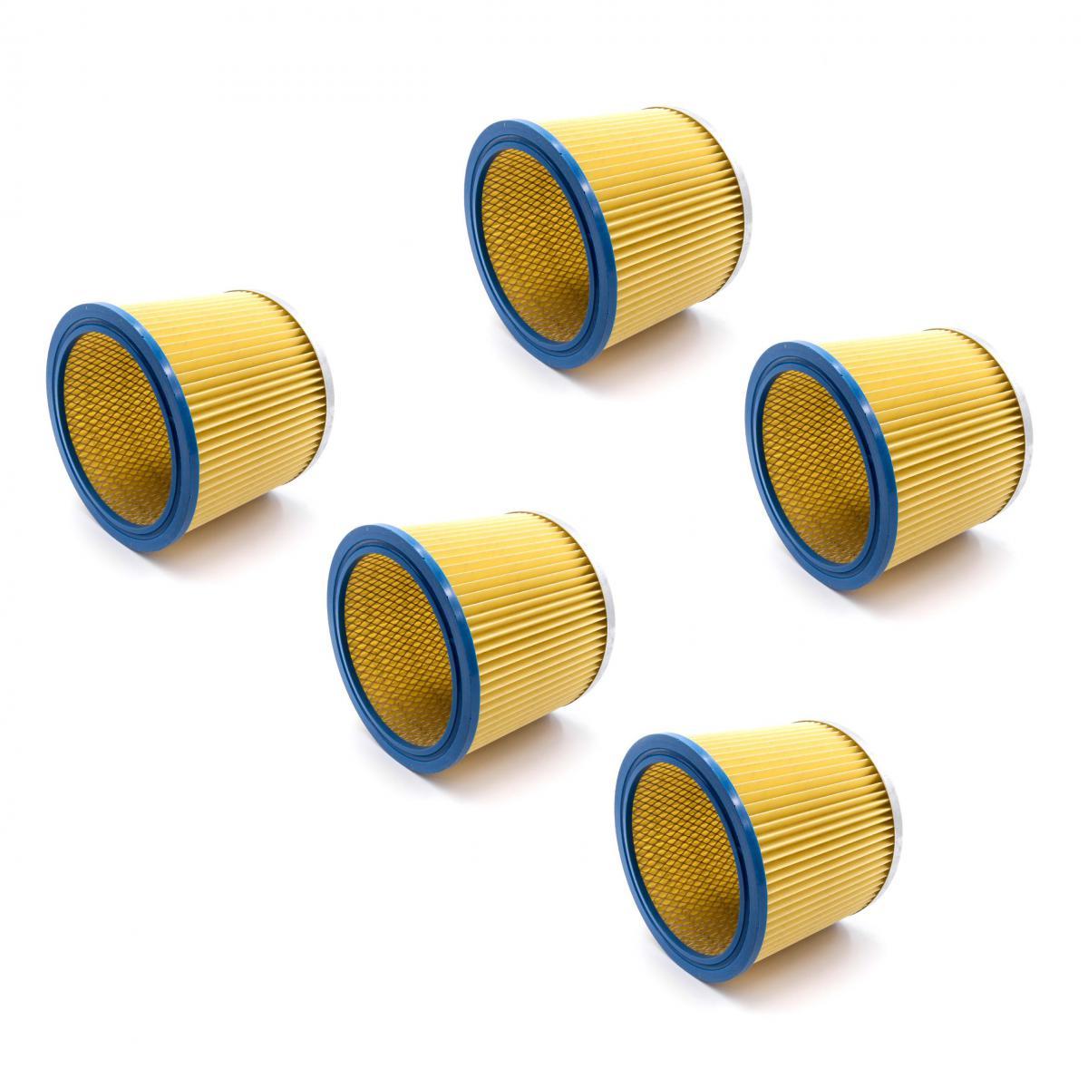 Vhbw vhbw 5x Filtre rond / filtre en lamelles pour aspirateur Aqua Vac AZ 9171175, 91171175, AZ 91951-10