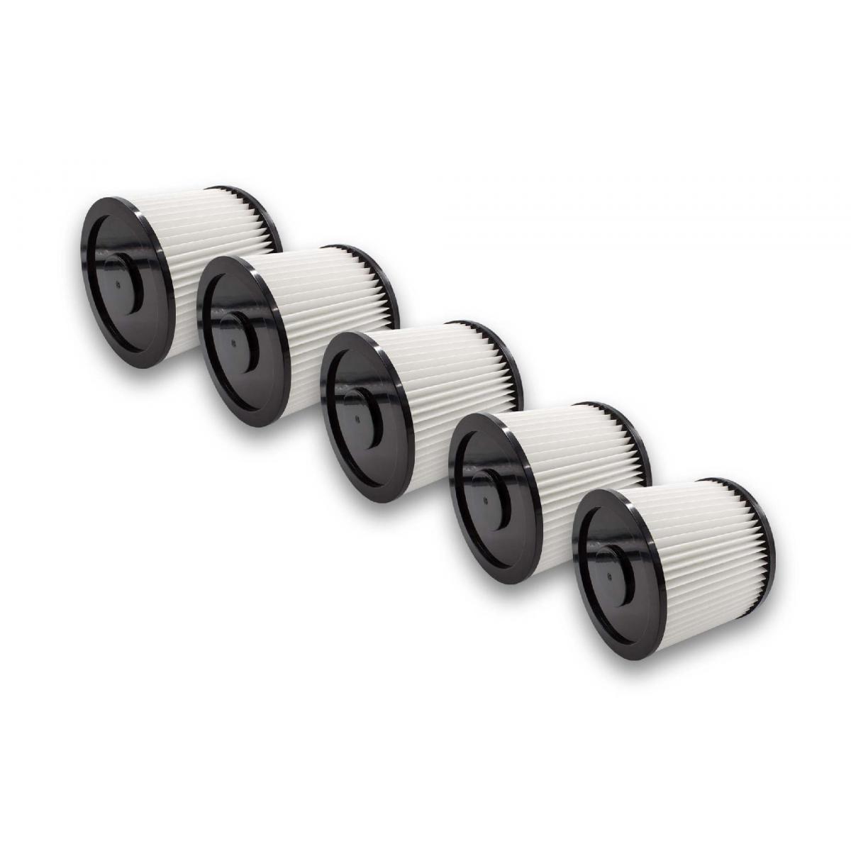 Vhbw vhbw 5x Filtre rond pour aspirateur multifonction compatible avec Kärcher NT 221, NT221, remplacement pour 6.904-042.0,