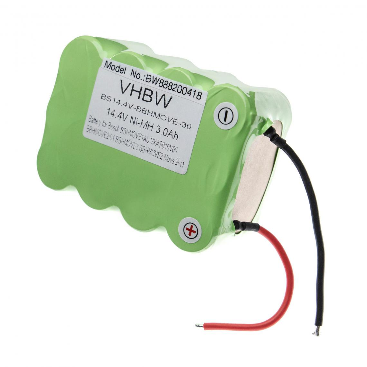 Vhbw vhbw batterie compatible avec Bosch Move BBHMOVE1N/01, BBHMOVE2/01, BBHMOVE2/03, BBHMOVE2/04 Home Cleaner (3000mAh, 14.4