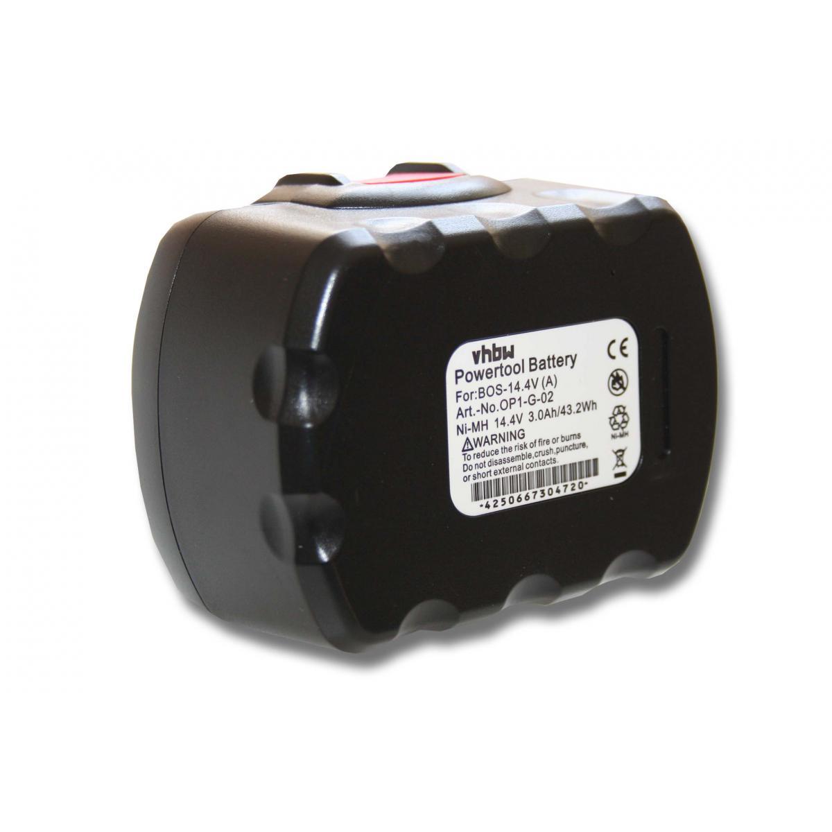 Vhbw vhbw Batterie compatible avec Bosch PKS 14.4V, PSB 14, PSB 14.4V, PSR 14.4, PSR 14.4-2, PSR 14.4/N outil électrique (300