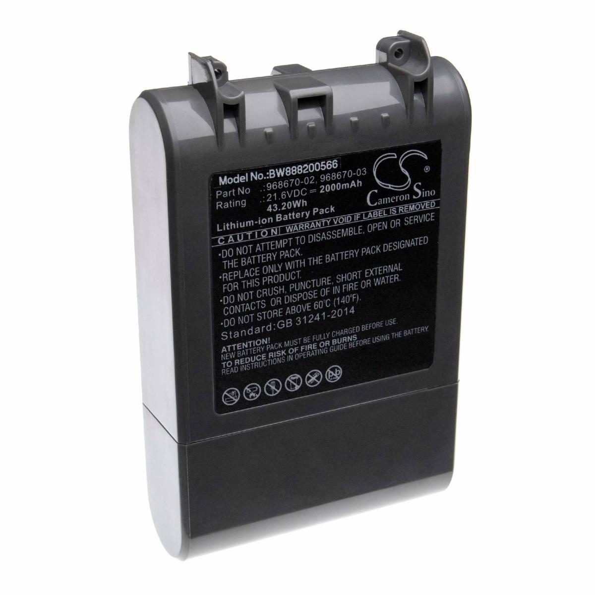 Vhbw vhbw batterie compatible avec Dyson SV11, V7, V7 Motorhead Pro, V7 Motorhead vacuum, V7 Total Clean Home Cleaner (2000mA